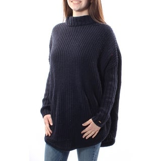 $150 TOMMY HILFIGER Navy Turtle Neck Long Sleeve Sweater XS B+B