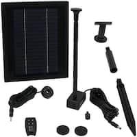 Sunnydaze 65 GPH Solar Pump Kit - Battery Pack - 47-Inch Lift - Remote Control
