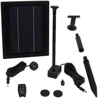 Sunnydaze 65 GPH Solar Pump Kit - Battery Pack - Remote Control - 47-Inch Lift