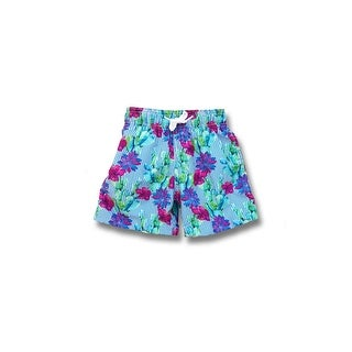 Azul Boys Multi Color Desert Oasis Print Drawstring Swim Shorts