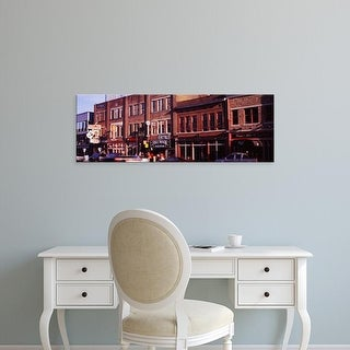 Easy Art Prints Panoramic Images's 'Buildings along a street, Nashville, Tennessee, USA' Premium Canvas Art