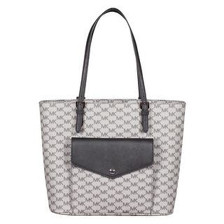 857d295a225a Michael Kors Large Jet Set Multifunction Pocket Tote Handbag in Black