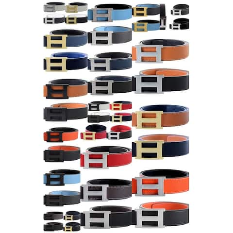"""Men/ Women Leather H and 8 Reversible Removable-buckle Belt FITS FROM (SIZE 32/34 TO 38/40) """"New Arrival"""""""