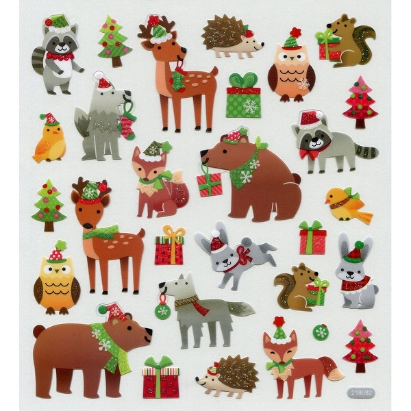 Multicolored Stickers-Holiday Animals