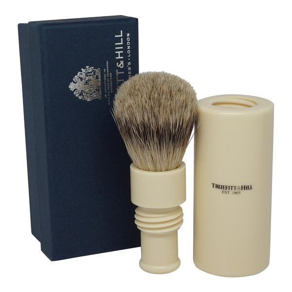 Truefitt & Hill Ivory Turnback Traveler Badger Hair Brush