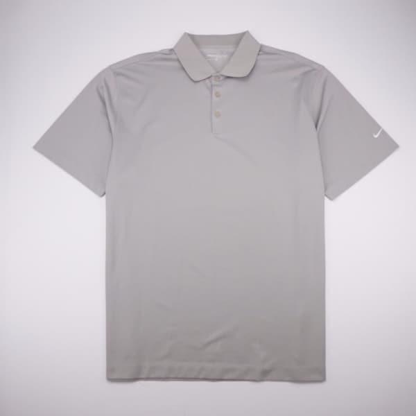 b4d5ffdd9 Shop NIKE GOLF Dri-Fit 3 Button Polo Golf Shirt Short Sleeve Tan ...