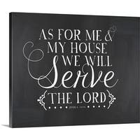 Amy Cummings Premium Thick-Wrap Canvas entitled As For Me And My House