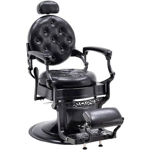 BarberPub Heavy Duty Metal Barber Chair Reclining Hydraulic Salon 3849