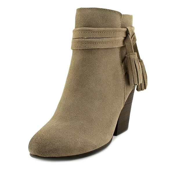 Very Volatile Enchanted Women Round Toe Suede Gray Ankle Boot