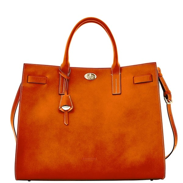 Dooney & Bourke Alto Large Valentina (Introduced by Dooney & Bourke at $795 in Sep 2015) - Saddle
