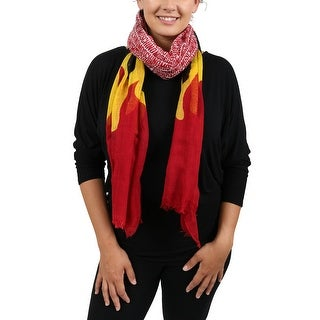 Moschino SCR11236/2 Red/Yellow Blazing Flame Scarf - 37-78