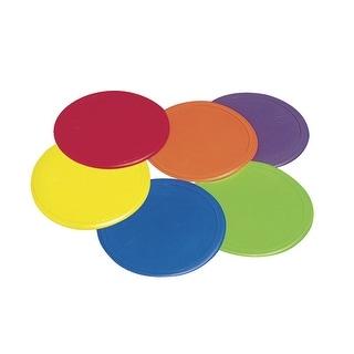 Poly Enterprises Poly Spot Marker Set, 9 in Dia, Vinyl, Assorted Color, Set of 6