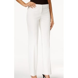 Nine West NEW Solid White Women's Size 8X32 Straight Leg Dress Pants