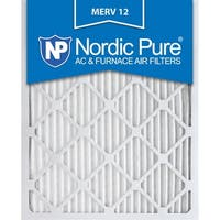 Nordic Pure 14x24x1 Pleated MERV 12 AC Furnace Air Filters Qty 3