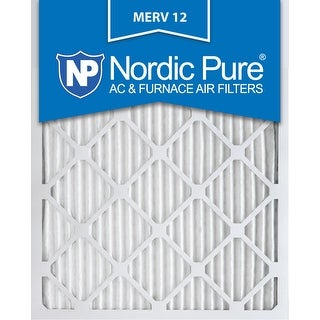 Nordic Pure 16x25x1 Pleated MERV 12 AC Furnace Air Filters Qty 3