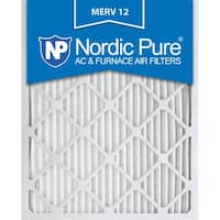 Nordic Pure 20x24x1 Pleated MERV 12 AC Furnace Air Filters Qty 6