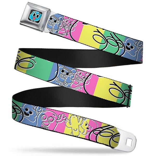 Gumball Face Close Up Black Full Color Tawg Character Collage Sketch Blocks Seatbelt Belt