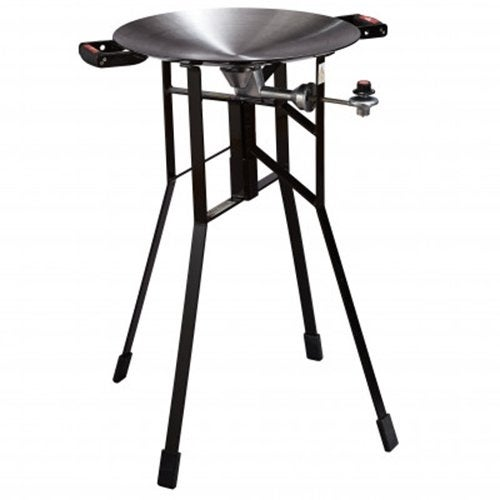 Firedisc Shallow 36 Black Tall Portable Cooker w/ 3 Zone Surface Temperatures