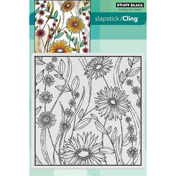"Penny Black Cling Stamp 5""X7""-Flower Box"