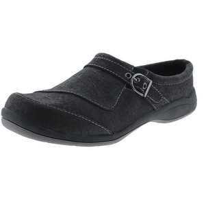 Easy Street Womens Comet Faux Leather Belted Clogs - 7 wide (c,d,w)