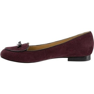 Trotters Womens Cheyenne Suede Patent Trim Loafers