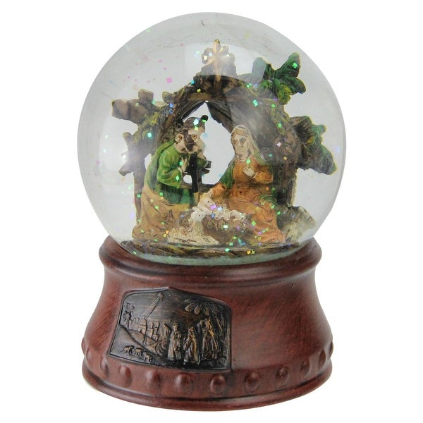 "5.5"" Musical Christmas Nativity Water Glitterdome Decoration"