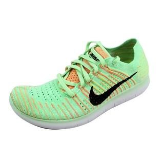 Nike Women's Free RN Flyknit Vapor Green/Black-Bright Mango 831070-301