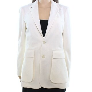 Polo Ralph Lauren NEW White Ivory Women's Size 8 Wool Blend Blazer