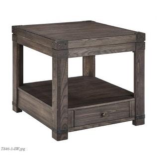Burladen Grayish Brown Rectangular End Table T846-3 Burladen Grayish Brown Rectangular End Table