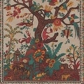 Handmade 100% Cotton Tree of Life Tapestry Tablecloth Bedspread Coverlet Beach Sheet Tan Twin Full Queen & King - Thumbnail 4