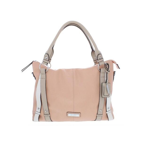 18d94c5b3a Jessica Simpson Womens Greer Crossbody Handbag Faux Leather Convertible -  LARGE