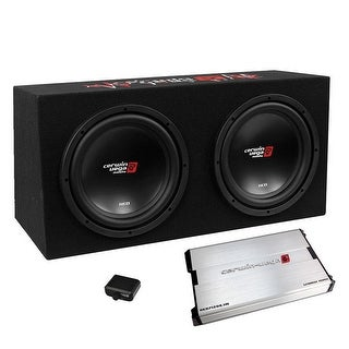 "Cerwin Vega XED 3000W MAX Basskit Dual 12"" loaded sealed 3/4"" MDF w/1000W MAX amp"