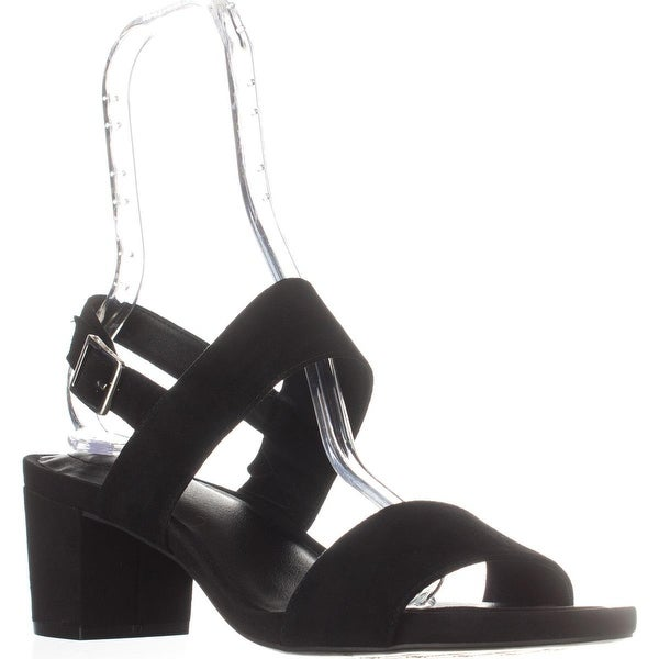 GB35 Maggiee Slingback Mule Sandals, Black Suede