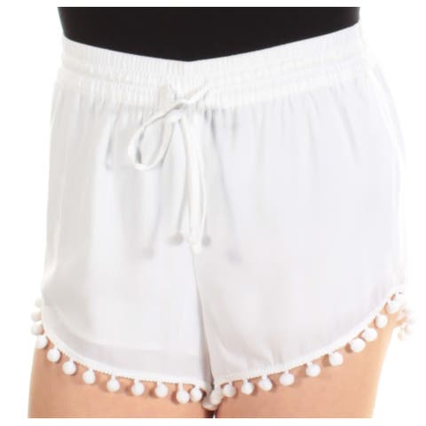 KENSIE Womens White Straight leg Short Size: M
