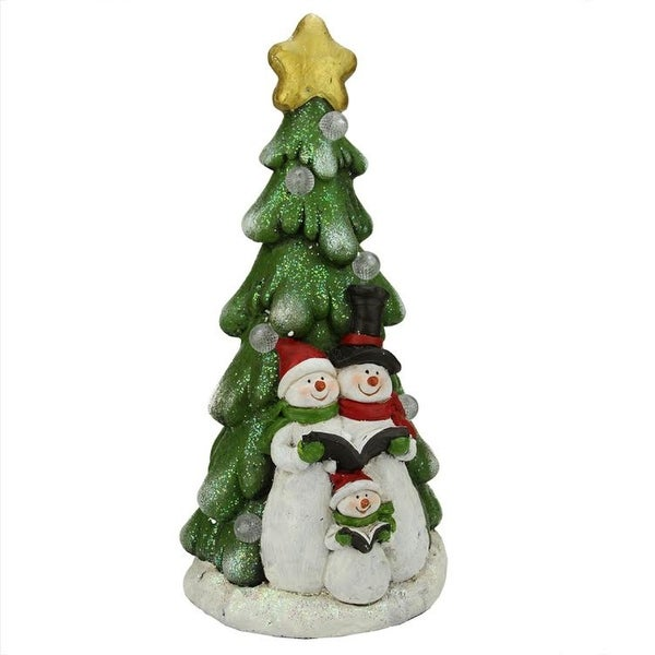 195 battery operated led lighted snowmen and christmas tree table top decoration