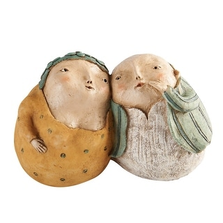 Art & Artifact Sweet Nothings Sculpture - Whispering Man & Woman Figurine - 7 in. x 4 in.