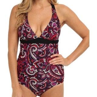 Prana NEW Purple Women's Size Large L Printed One-Piece Swimwear