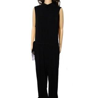 Lauren Ralph Lauren NEW Black Women Size XL Belted Turtleneck Jumpsuit