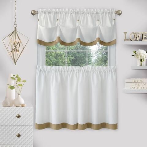 Lana Window Curtain Tier Pair and Valance Set