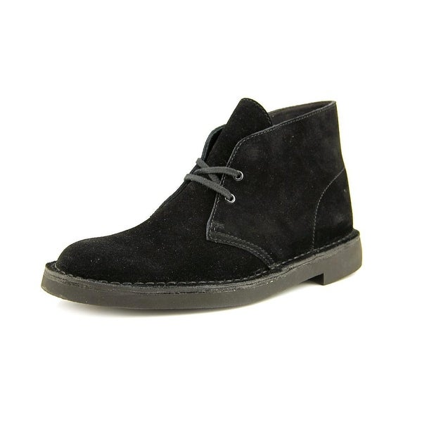 Clarks Bushacre 2 Men Round Toe Suede Black Chukka Boot