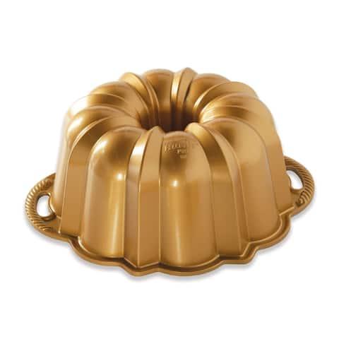 Nordic Ware 12 Cup Anniversary Bundt Pan, Gold