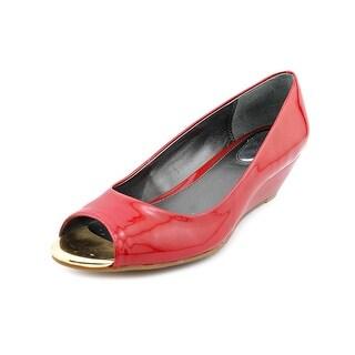 Alfani Cammi Women Open Toe Synthetic Red Wedge Heel