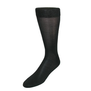 Windsor Collection Men's Silk Mid Calf Dress Socks