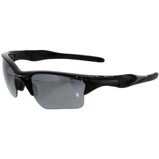 Oakley Men's Gradient Half Jacket OO9154-01 Black Wrap Sunglasses