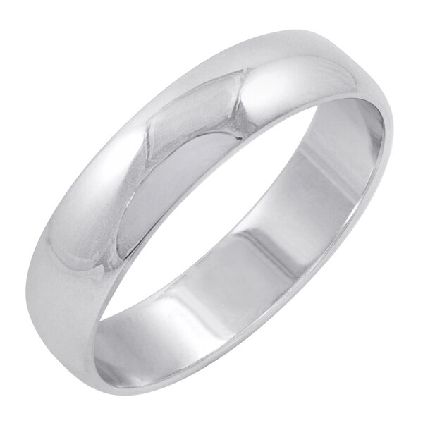 Men X27 S 10k White Gold 5mm Clic Fit Plain Wedding Band Available