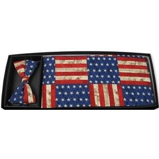 American Rustic Bow Tie and Cummerbund Set