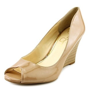 Jessica Simpson Lorion Open Toe Synthetic Wedge Heel