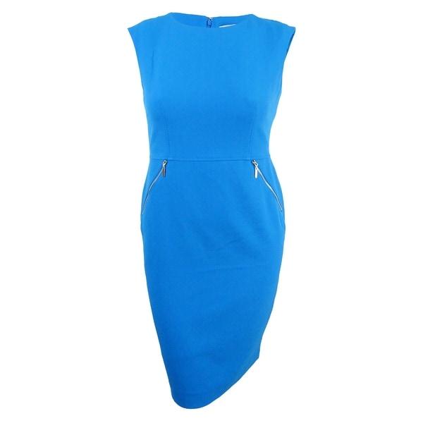 766d807d Shop Kasper Women's Zip-Pocket Sheath Dress - Azure - On Sale - Free  Shipping On Orders Over $45 - Overstock - 21908056