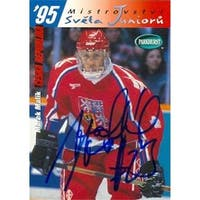Marek Malik Autographed Hockey Card Czech Republic 1995 Upper Deck