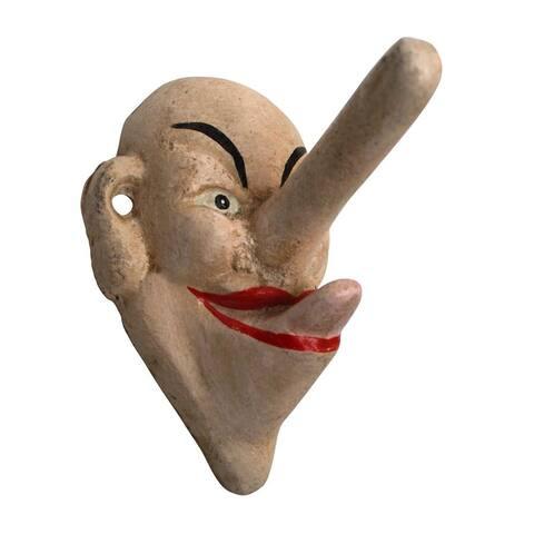 Design Toscano Liar, Liar Big Nose Cast Iron Hook